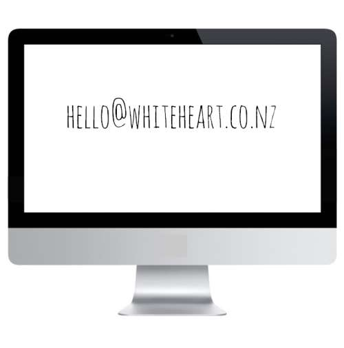 email address hello@whiteheart.co.nz